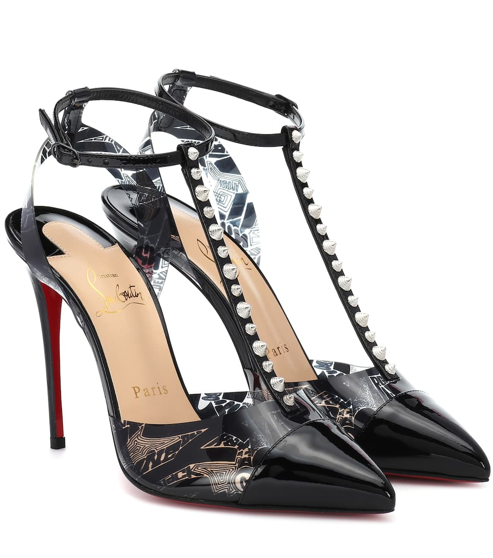 5b7955207be3 Nosy Spikes Pvc And Leather Pumps - Christian Louboutin