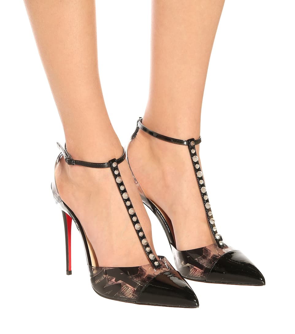 509147abac3b Nosy Spikes Pvc And Leather Pumps - Christian Louboutin
