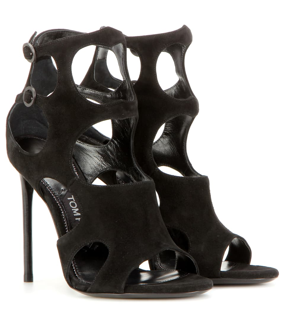 Tom Ford Cutout suede sandals