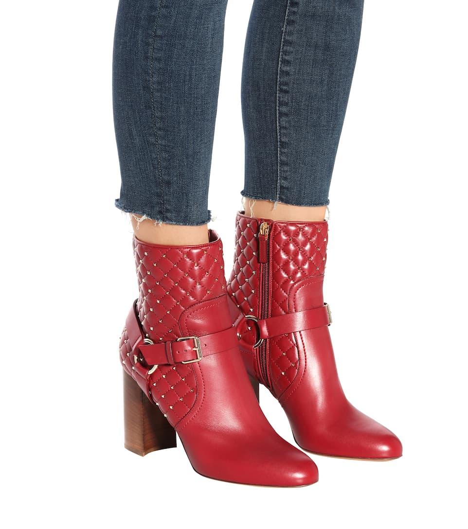 Valentino Valentino Garavani Ankle Boots Rockstud Spike aus Leder