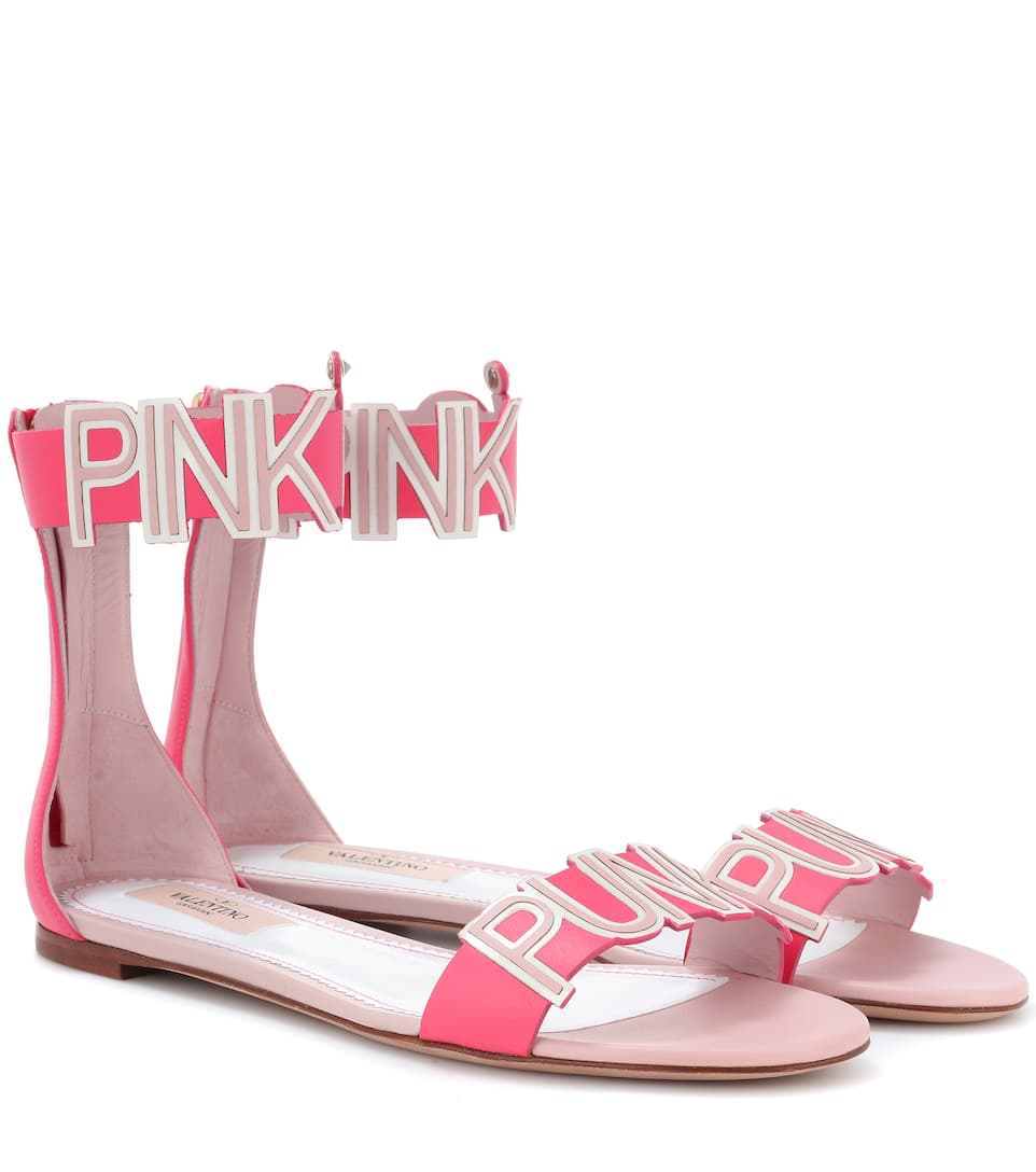 PINK IS PUNK SANDALS