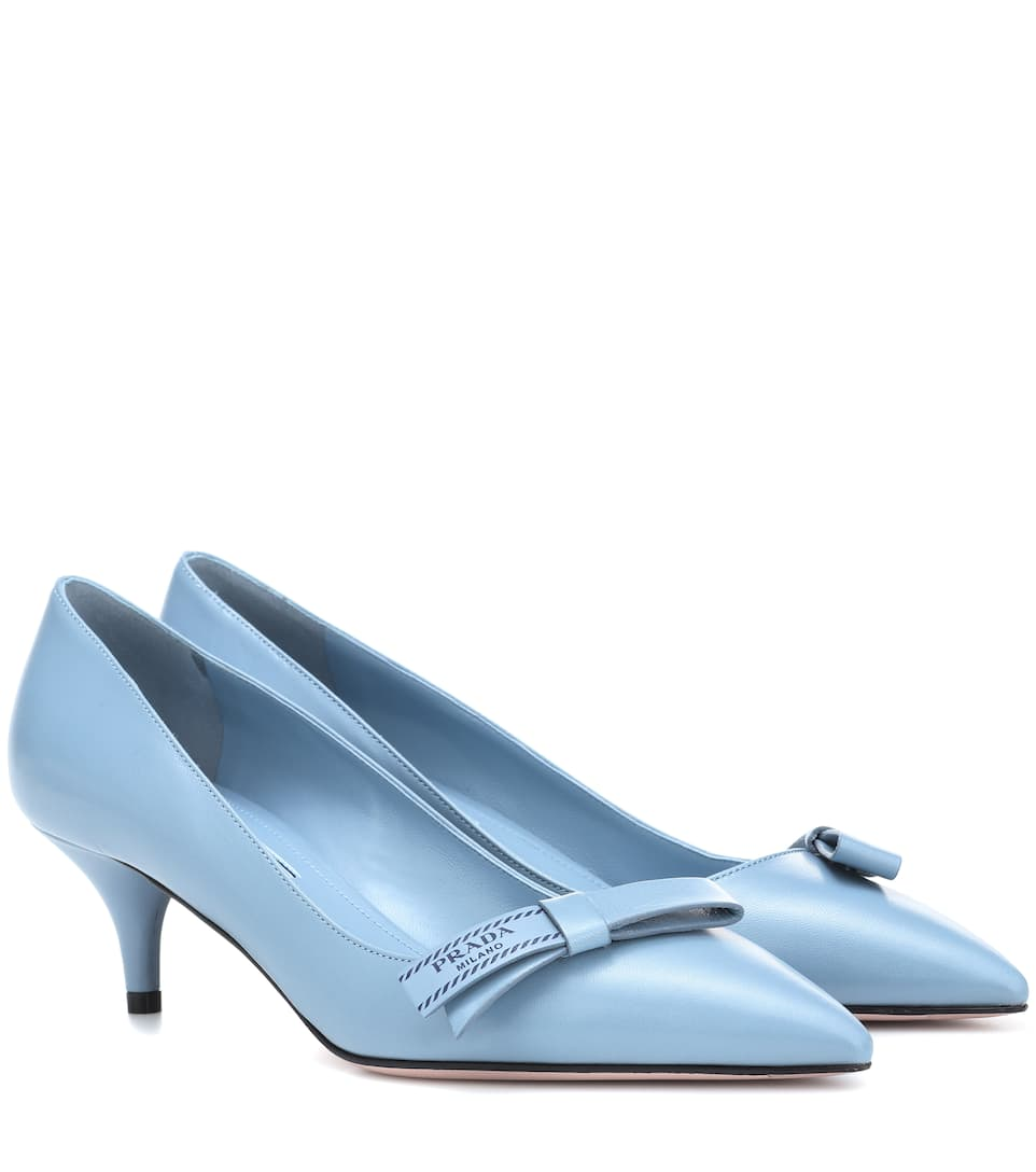 Pumps - Bow Pumps Leather Astrale - blue - Pumps for ladies Prada Clearance Cost Free Shipping View Buy Cheap Websites Visa Payment Store Sale Online vsiePvX