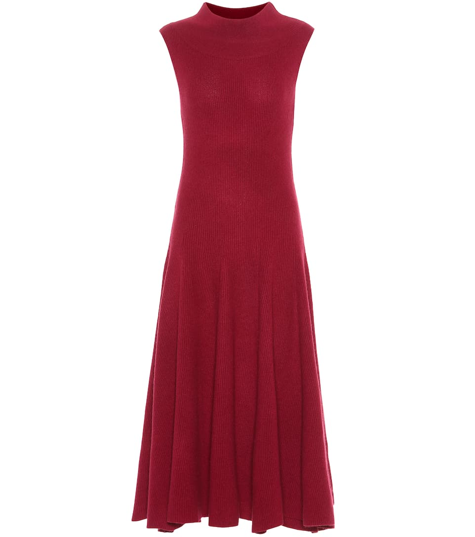 RYAN ROCHE Knitted Cashmere Dress in Purple