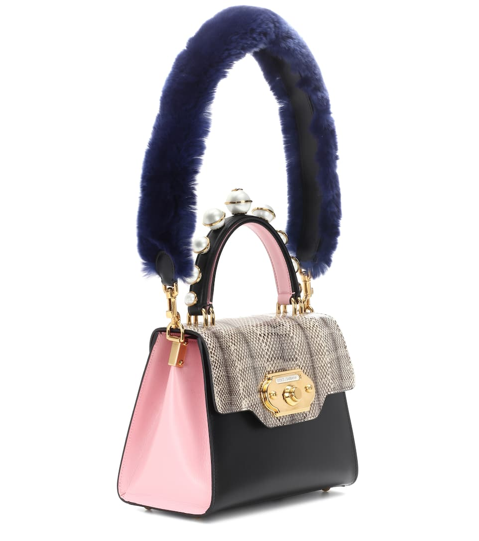 Dolce & Gabbana Tote Welcome In Leather With Fur