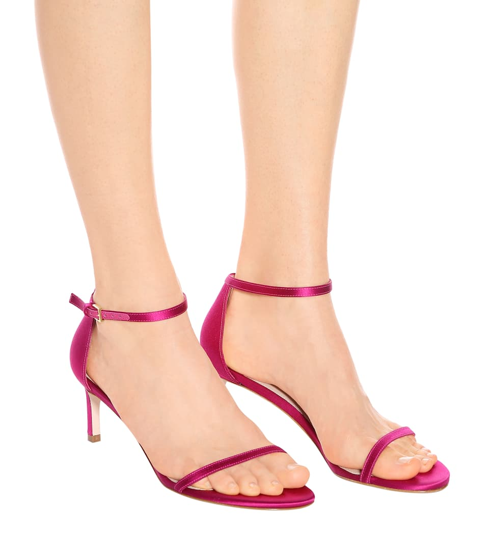 Stuart Weitzman Nudistsong 45 satin sandals Manchester Official Cheap Online rUB5nCXuK