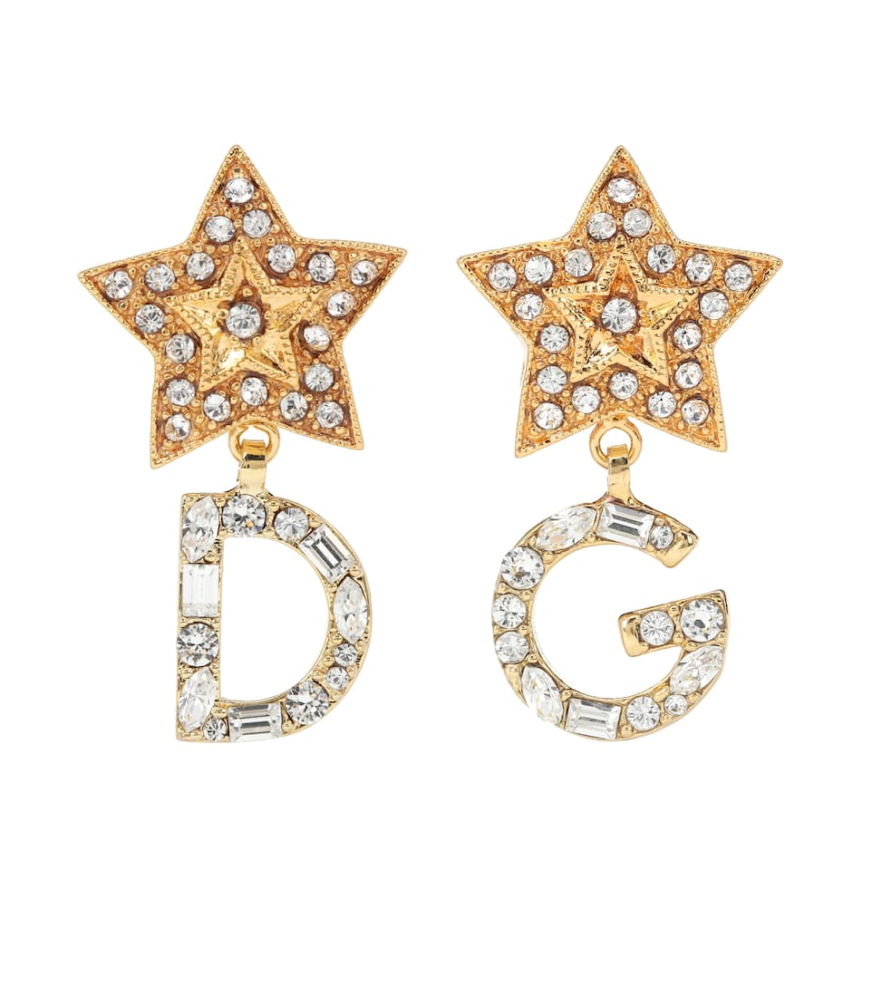 DOLCE & GABBANA Crystal-Embellished Earrings, Gold