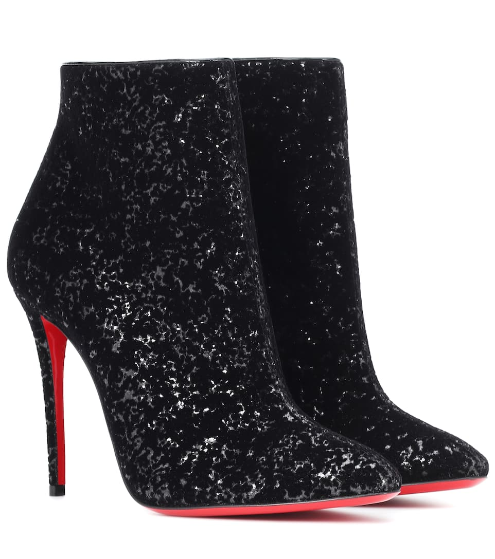 Eloise 100 Glitter Ankle Boots by Christian Louboutin