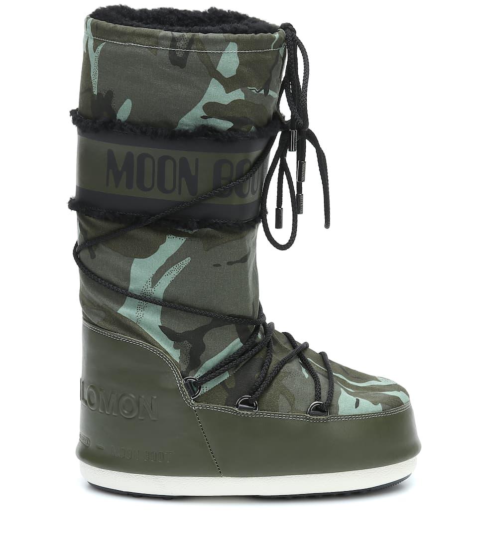 X Moon Boot® - Stivali Doposcì Con Shearling - Yves Salomon | Mytheresa uge2WcEN