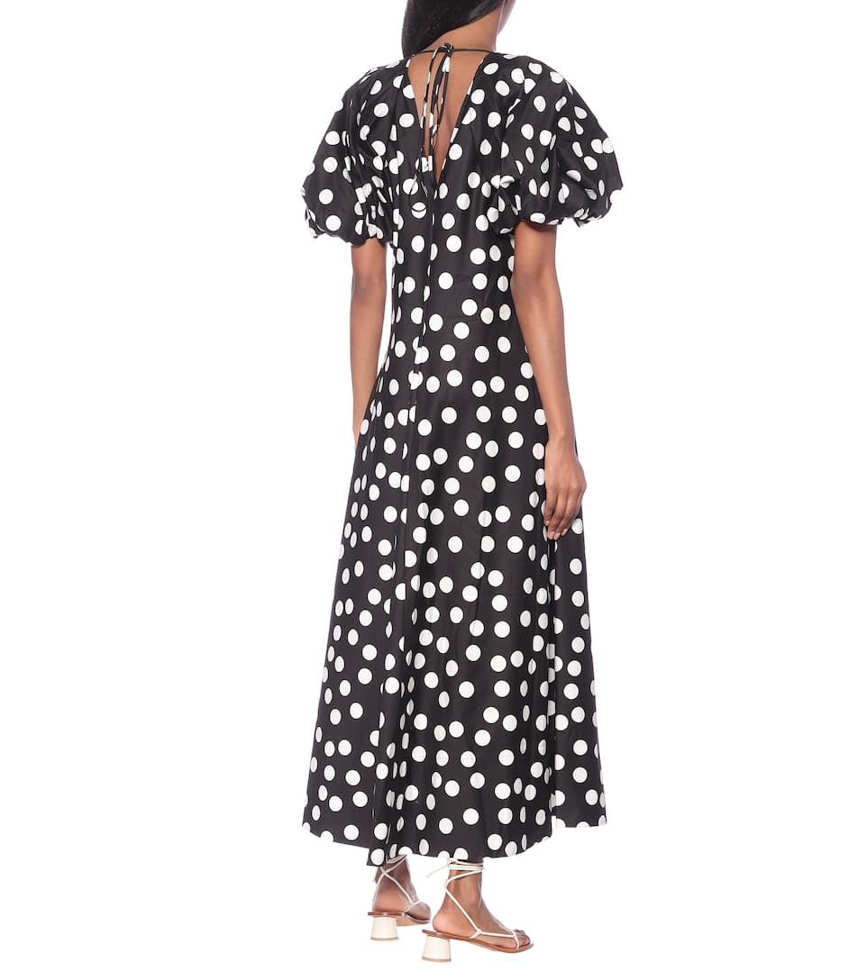 Lee Mathews - Cherry polka-dot cotton maxi dress