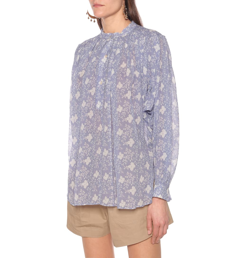 Eulali Cotton And Silk Blouse - Isabel Marant