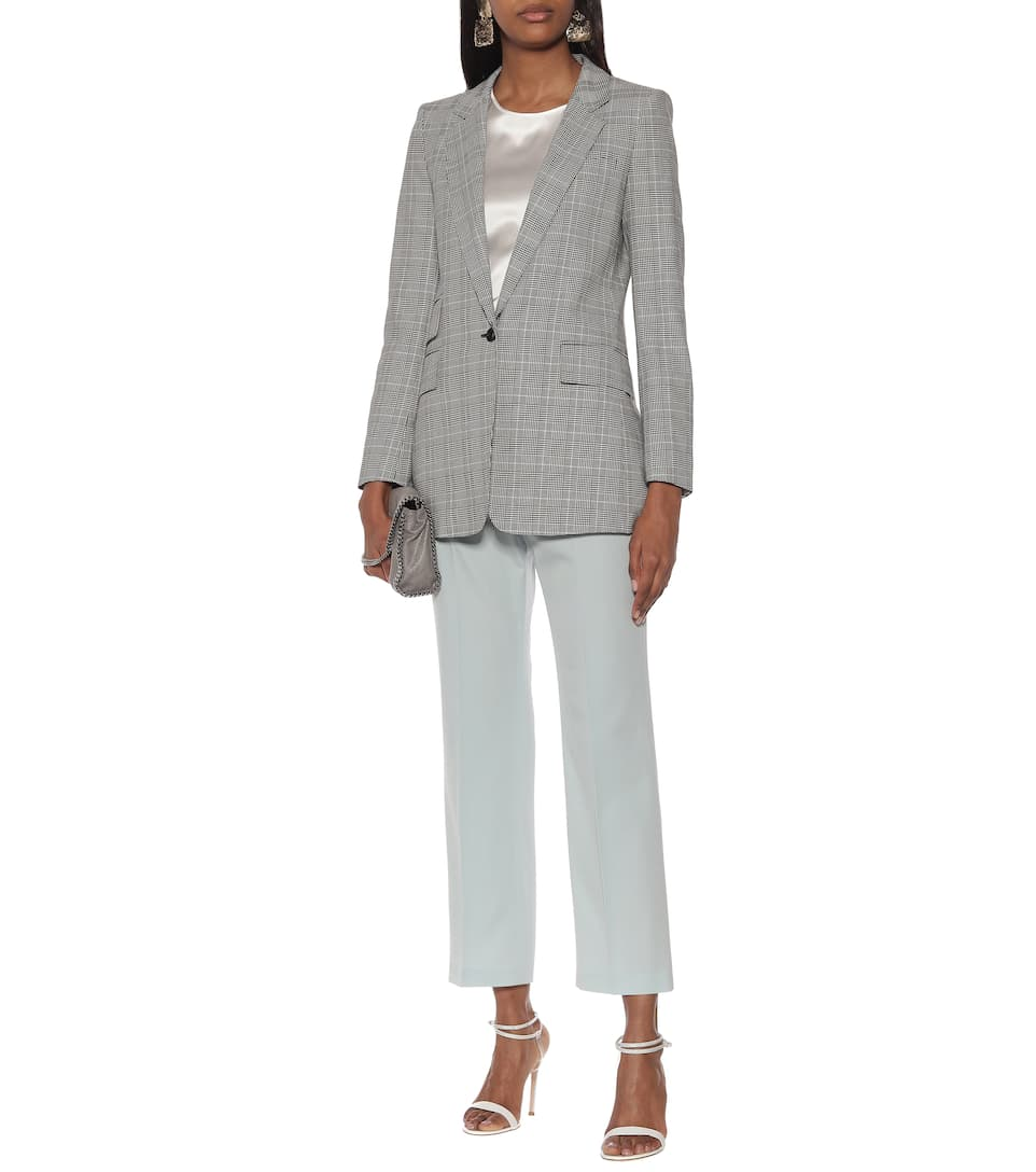 Max Mara - Piuma checked cotton blazer