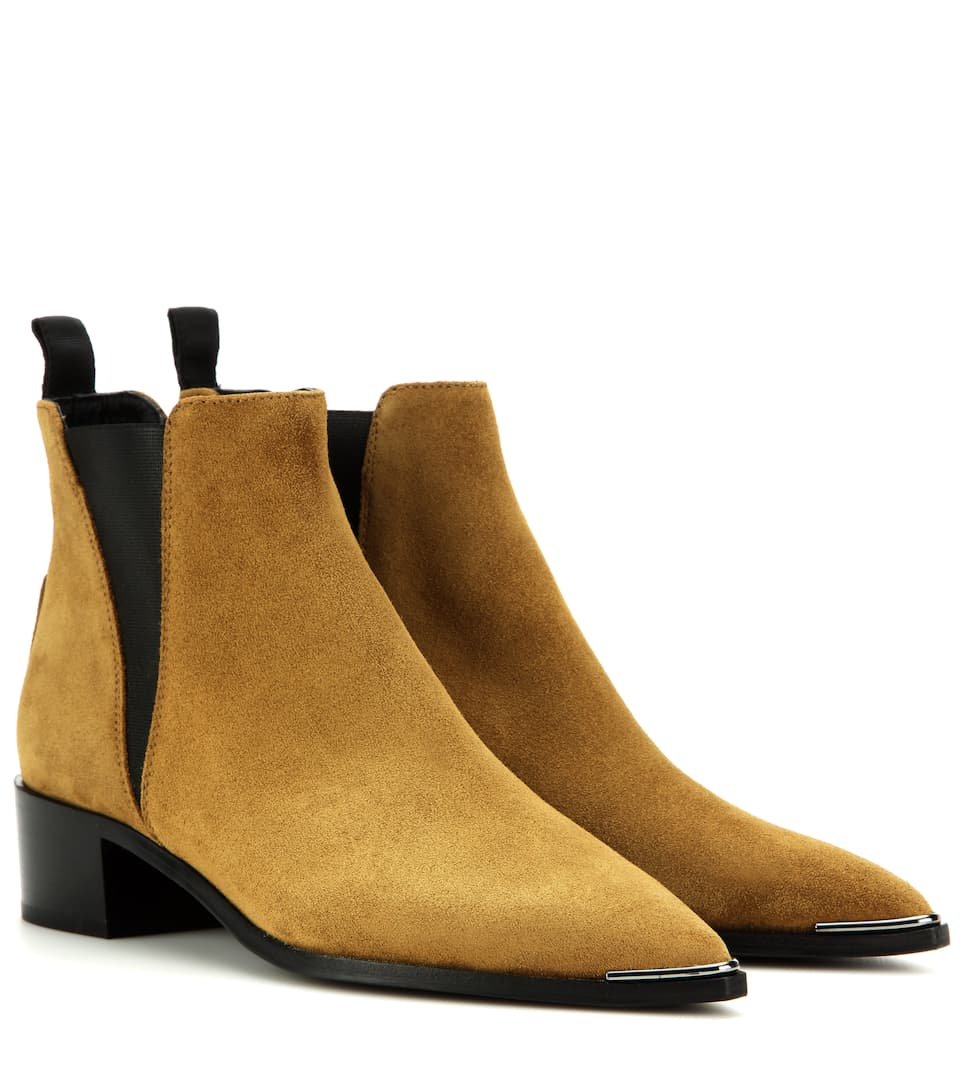 acne studios jensen suede ankle boots. Black Bedroom Furniture Sets. Home Design Ideas