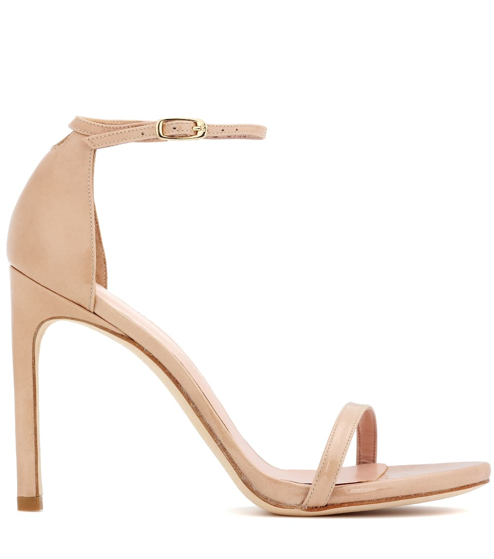 Stuart Weitzman Exclusive to mytheresa.com – Nudistsong patent leather sandals excellent online SWEBhlve