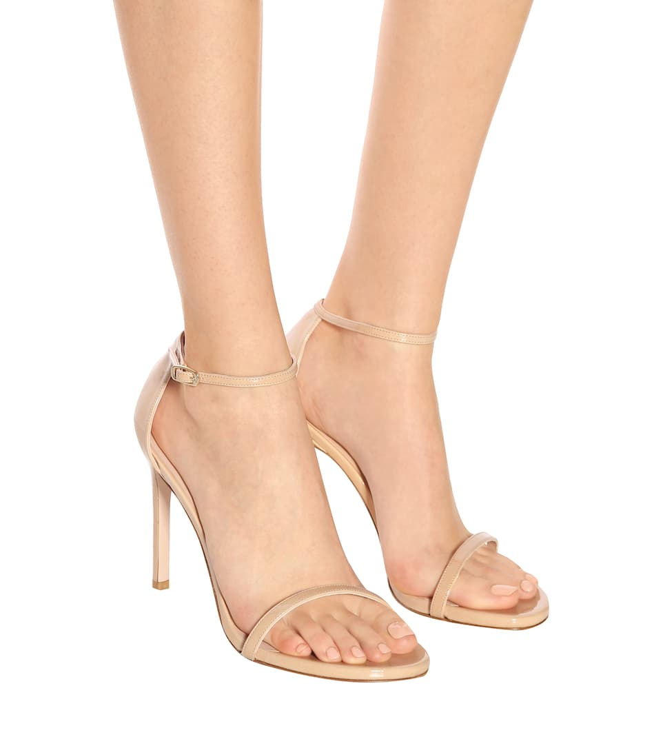 Exclusive to mytheresa.com - Nudistsong patent leather sandals Stuart Weitzman Buy Cheap Professional BC5SAD