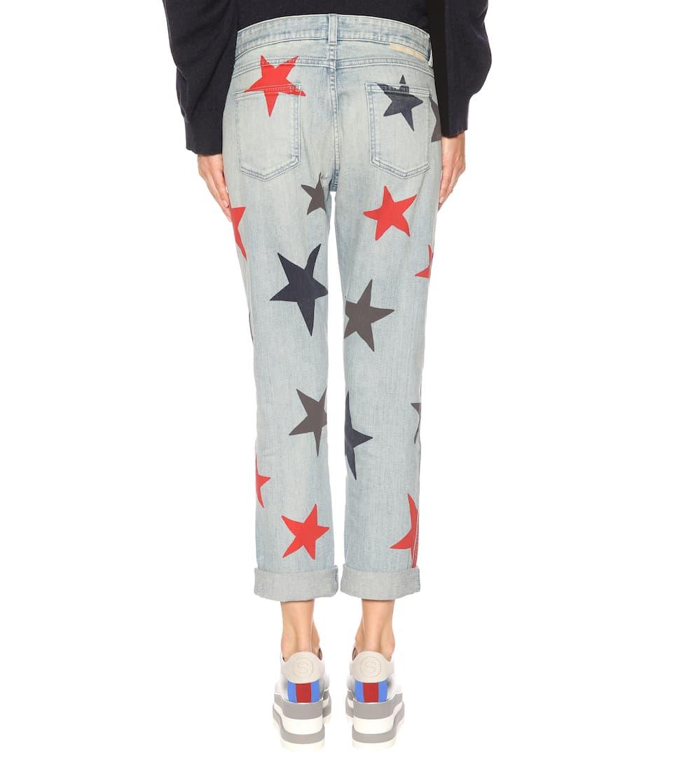 Stella McCartney Bedruckte Mid Rise Jeans