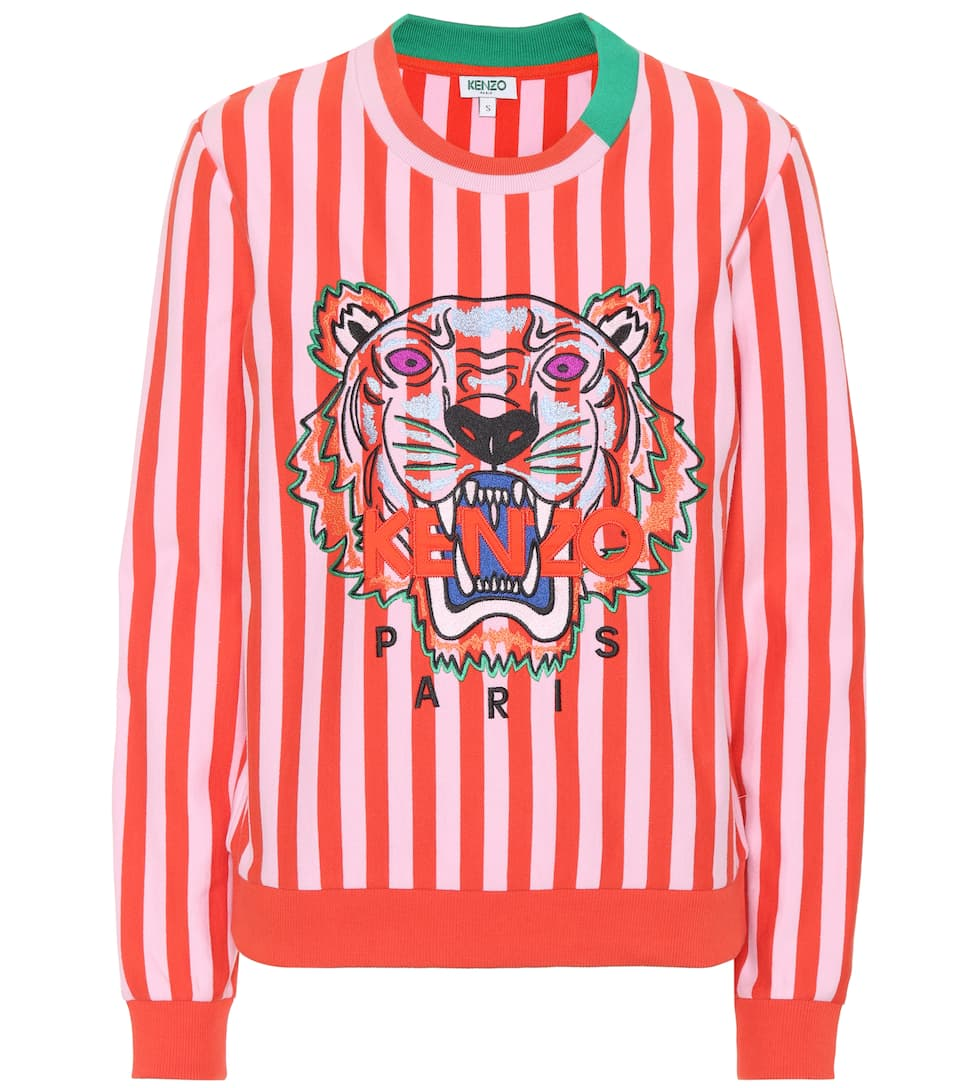 EMBROIDERED TIGER STRIPE SWEATSHIRT