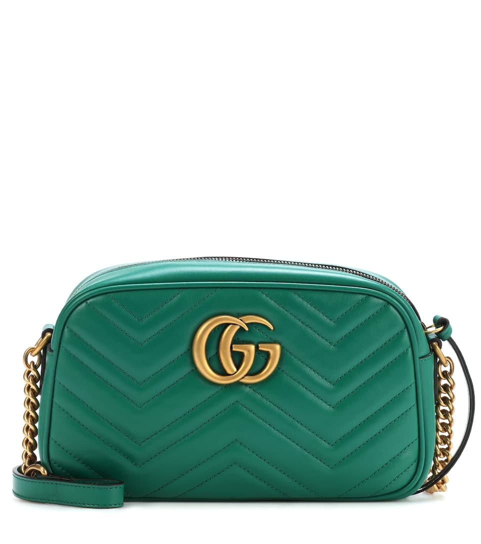 9dab370eb16e Gg Marmont Small Leather Shoulder Bag - Gucci | mytheresa.com