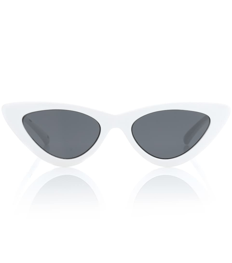 Adam Selman X Le Spec Luxe The Last Lolita White Sunglasses, Female