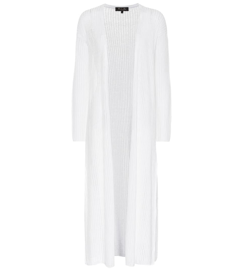 Linen and silk cardigan