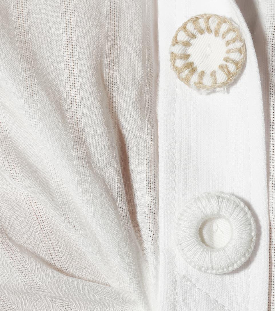 Jacquemus Bluse aus Baumwolle mit Raffung
