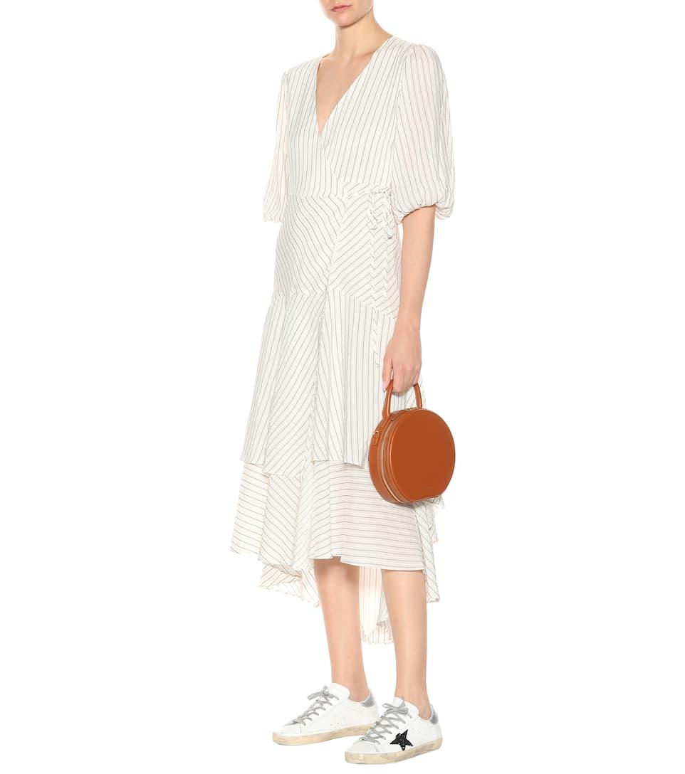 Ganni Kleid aus einem Seiden-Baumwoll-Gemisch