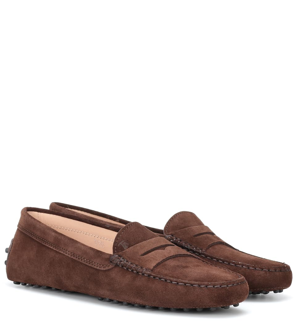 Tod's - Gommino suede loafers   Mytheresa