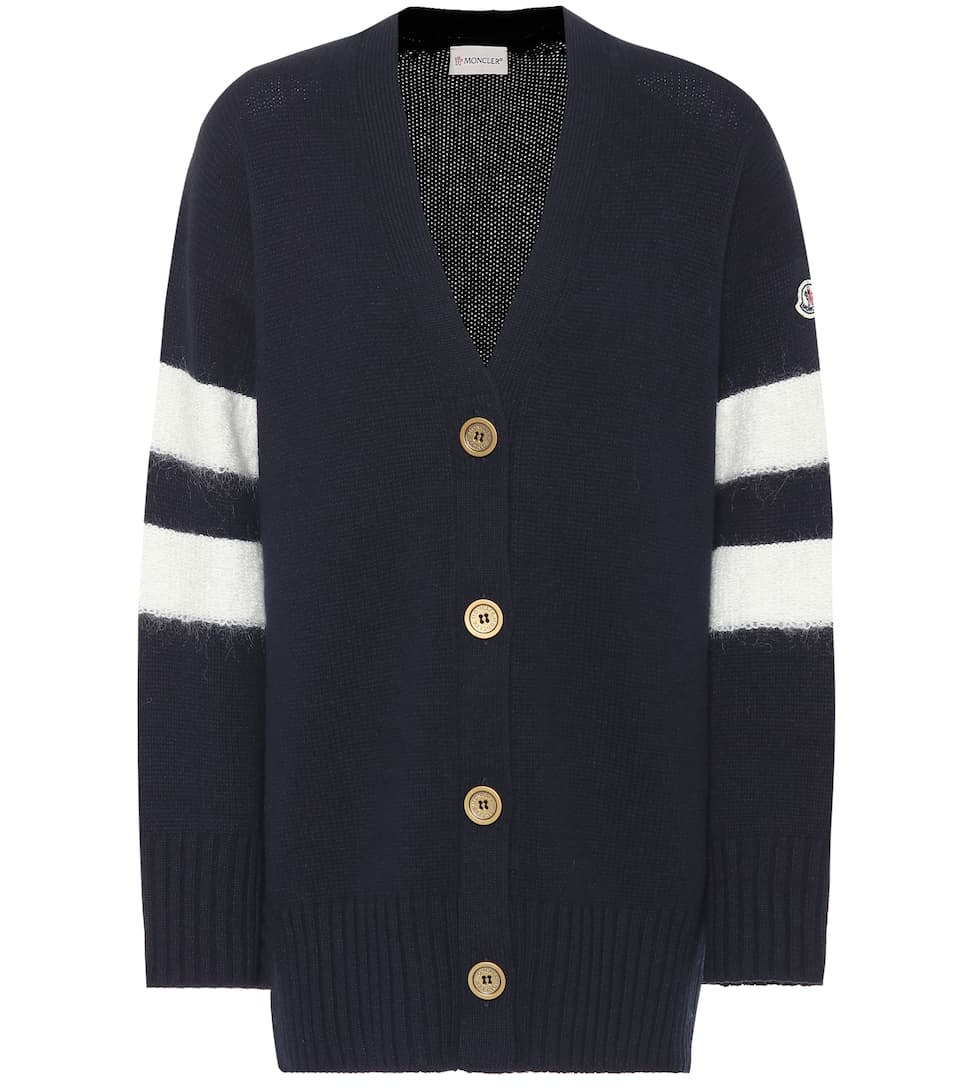 Wool And Cashmere Cardigan by Moncler