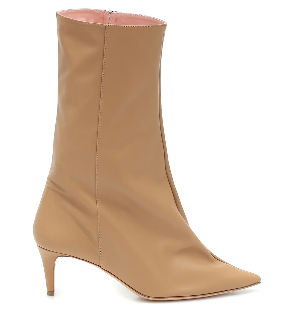 Acne Studios - Leather Ankle Boots Big Discount