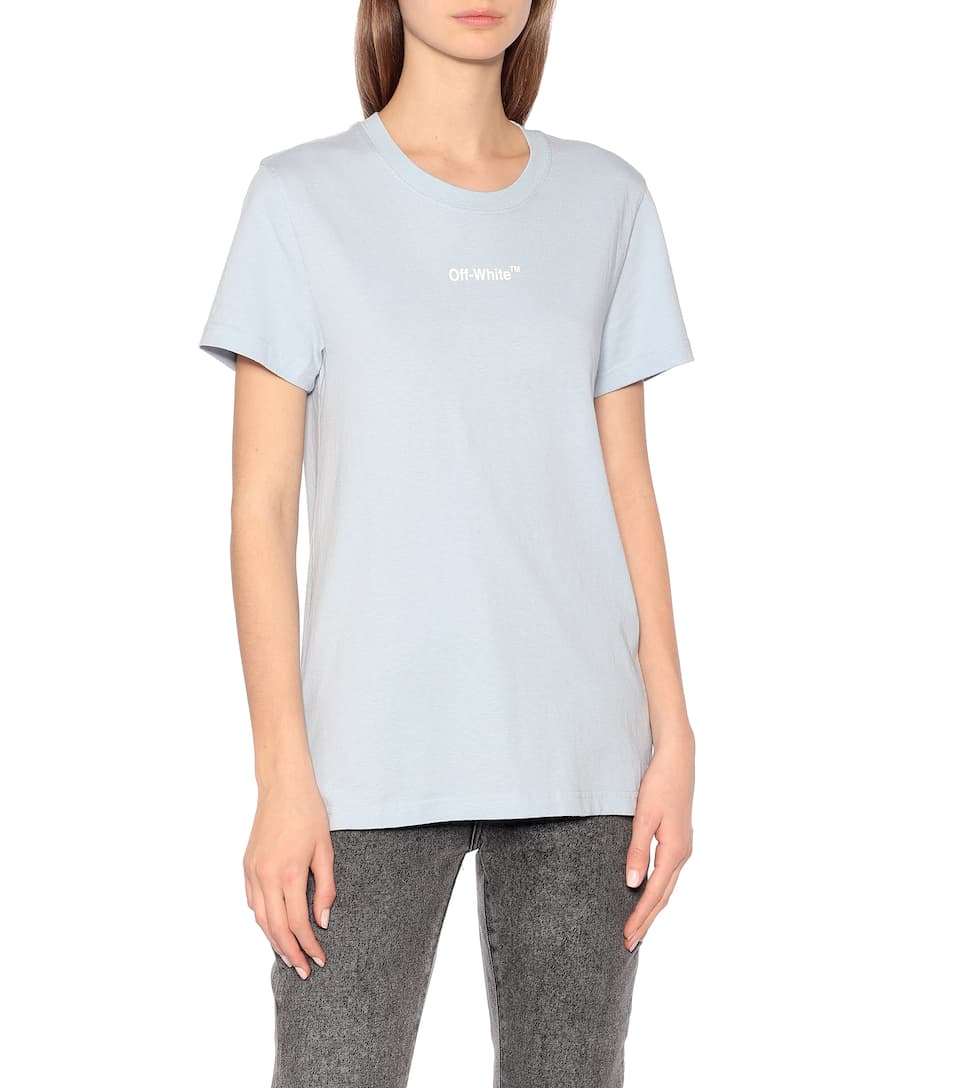 Off-White - Printed cotton-jersey T-shirt