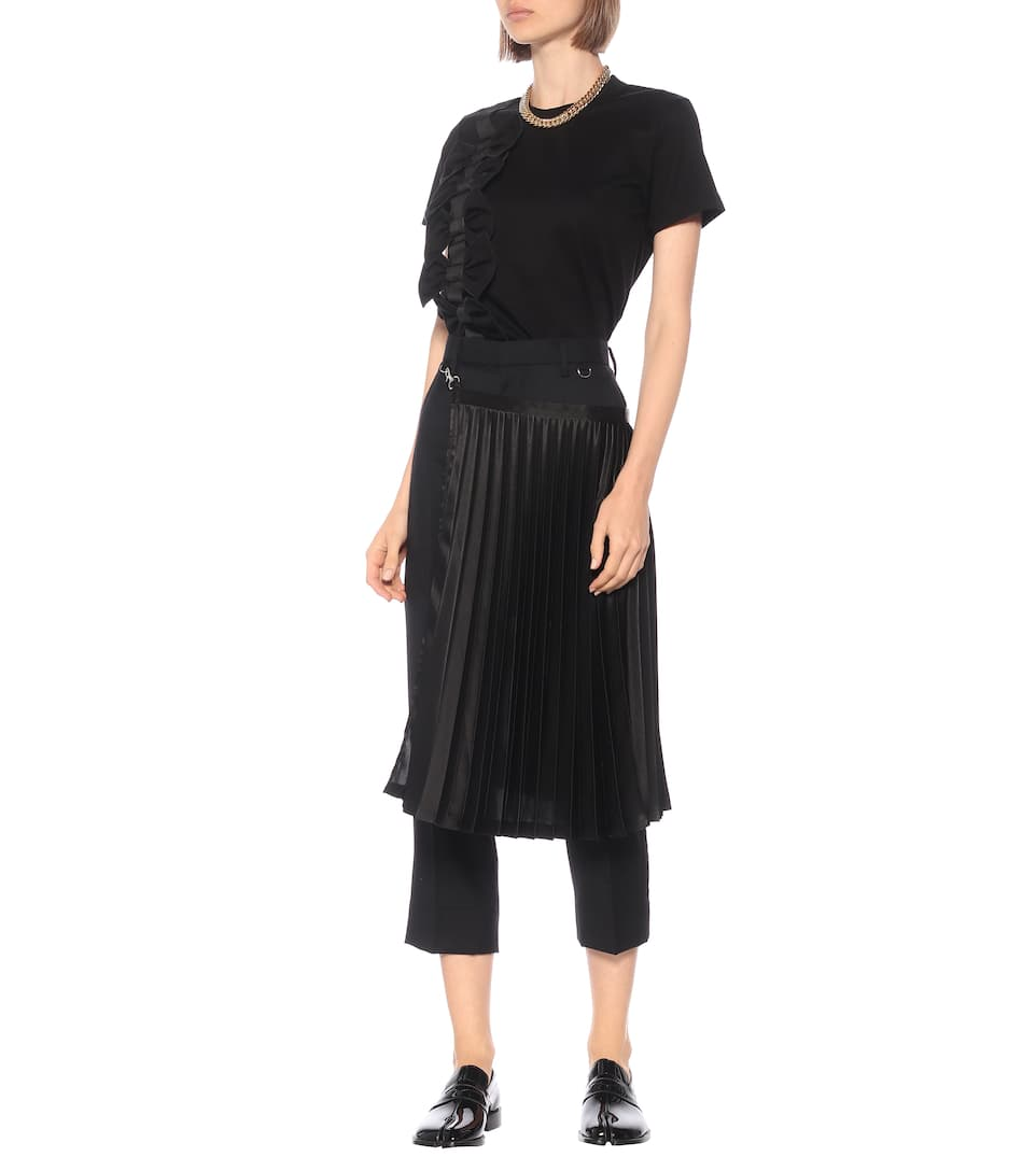 Embellished Cotton T-Shirt - Noir Kei Ninomiya