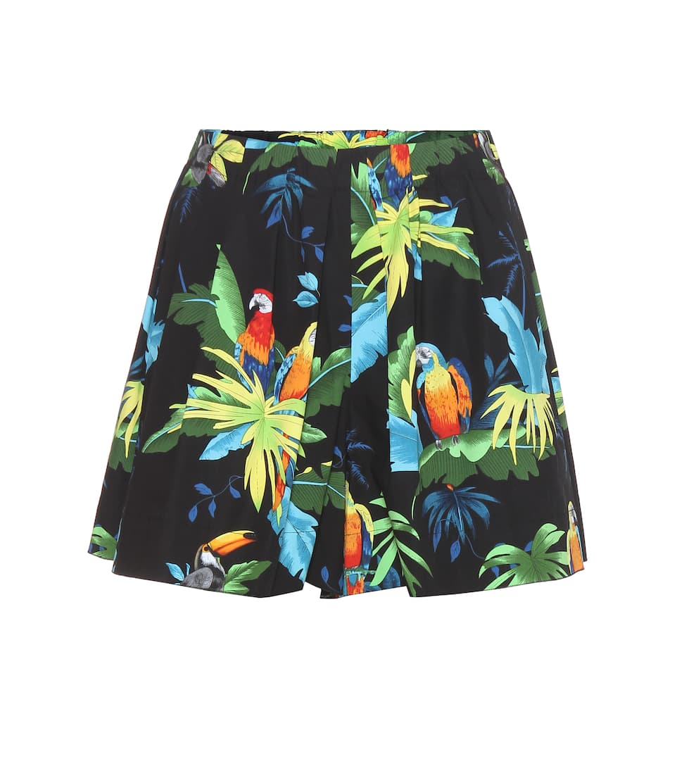 Marc Jacobs Gemusterte Shorts aus Stretch-Baumwolle