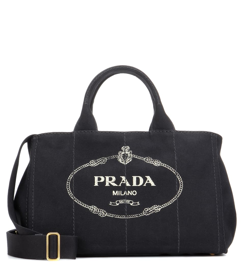 jardinera large canvas shopper bag prada. Black Bedroom Furniture Sets. Home Design Ideas