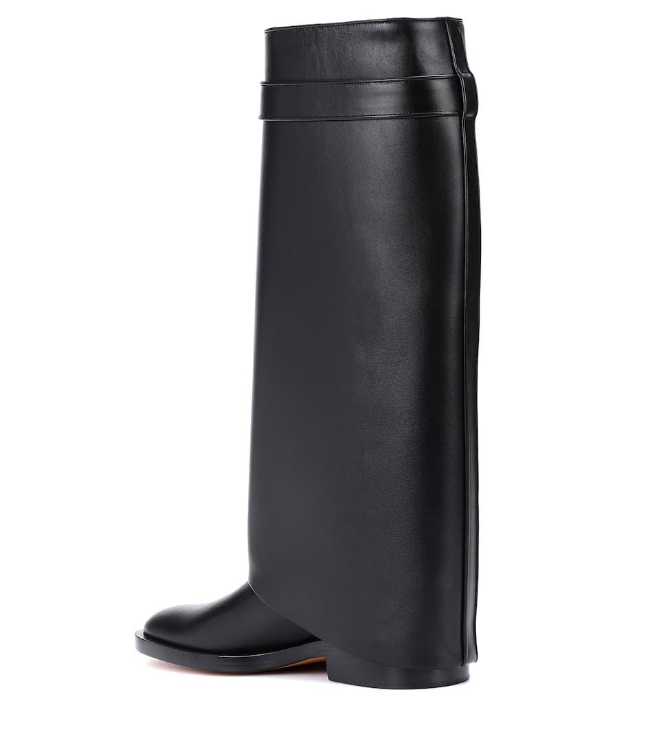 Givenchy Lock En Bottes Shark Compensées Cuir Pant F8q8w1