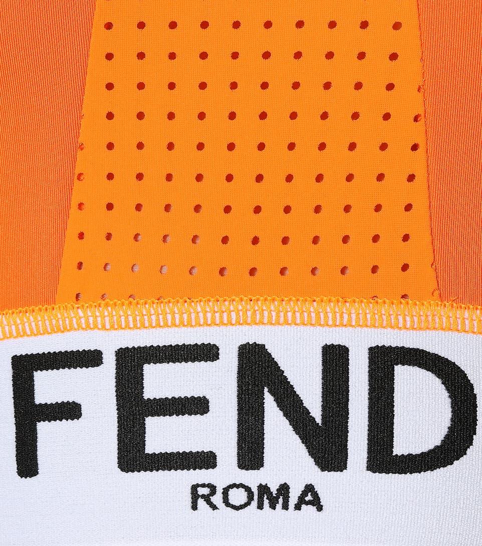 Fendi Bikini-Oberteil mit Logoakzent