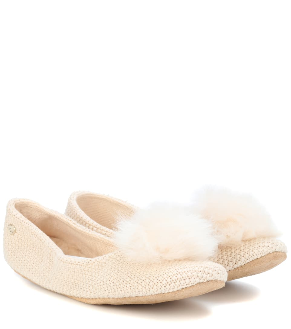 Andi Fur Trimmed Ballerinas by Ugg