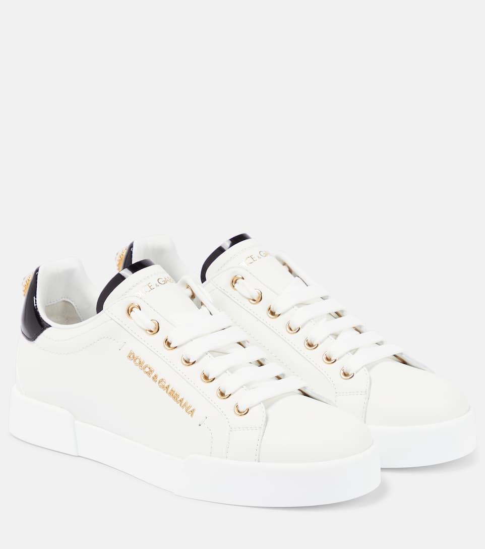 Dolce & Gabbana Dolce And Gabbana White Portofino Sneakers