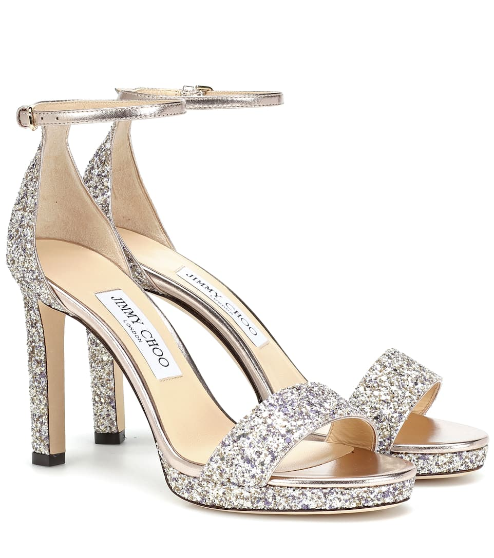 c184d3cb1434 Jimmy Choo - Misty 100 glitter sandals