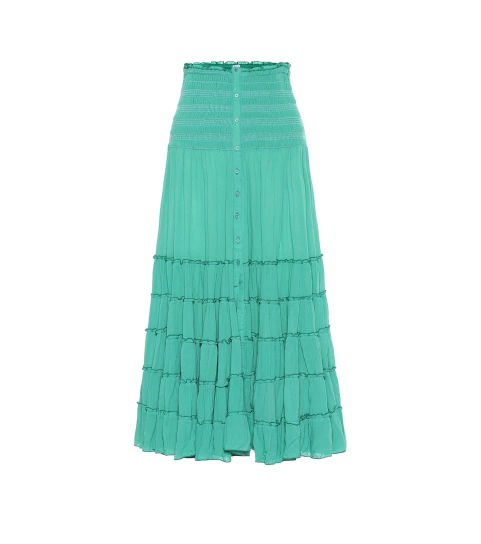 2651ac80b0 Poupette St Barth - Foe paneled maxi skirt   Mytheresa