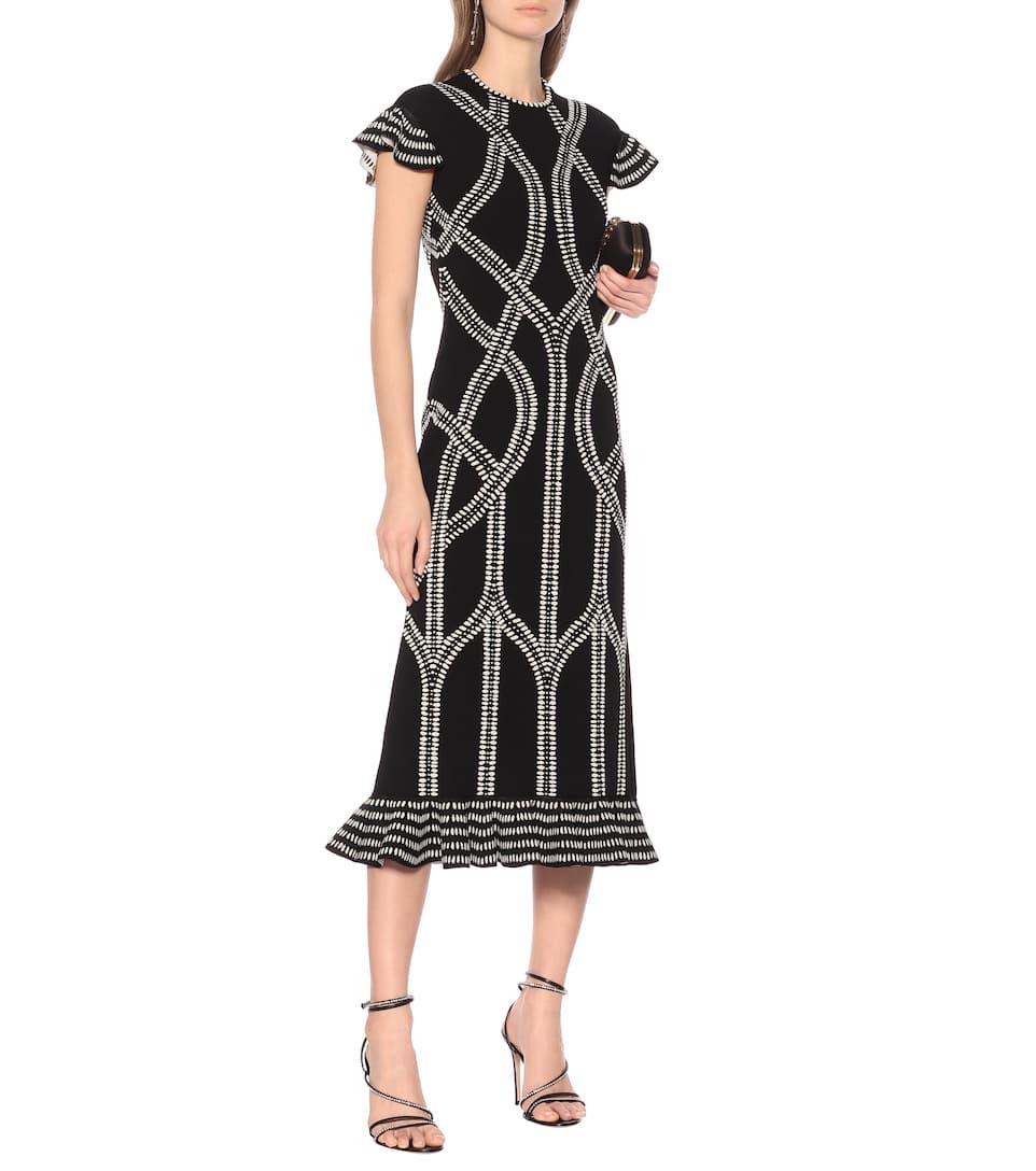 Jacquard Knit Midi Dress - Alexander McQueen