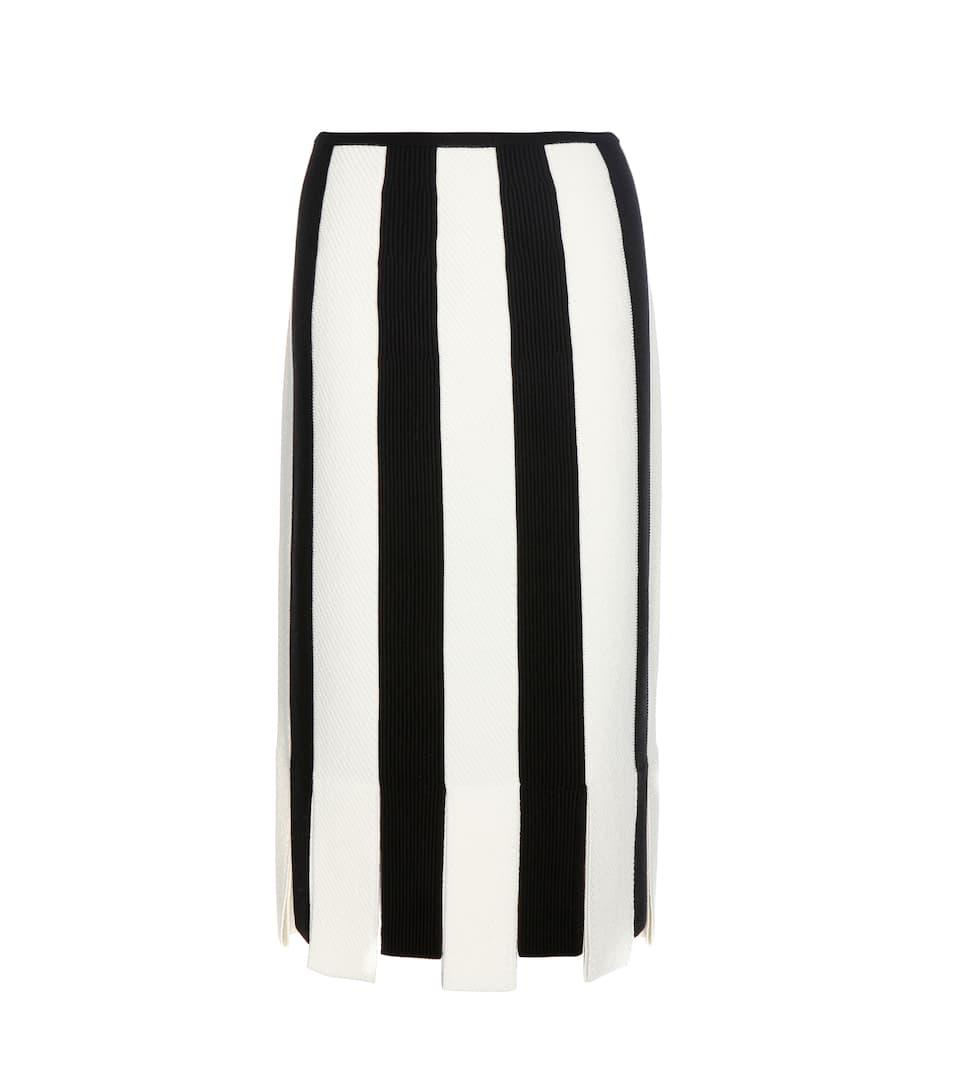 Salvatore Ferragamo Striped wool skirt