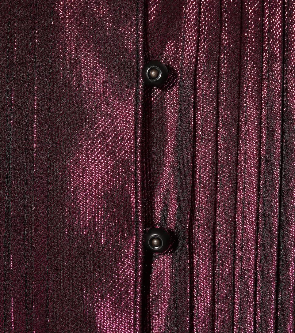 Burberry Maxikleid aus Seide mit Metallic-Fäden
