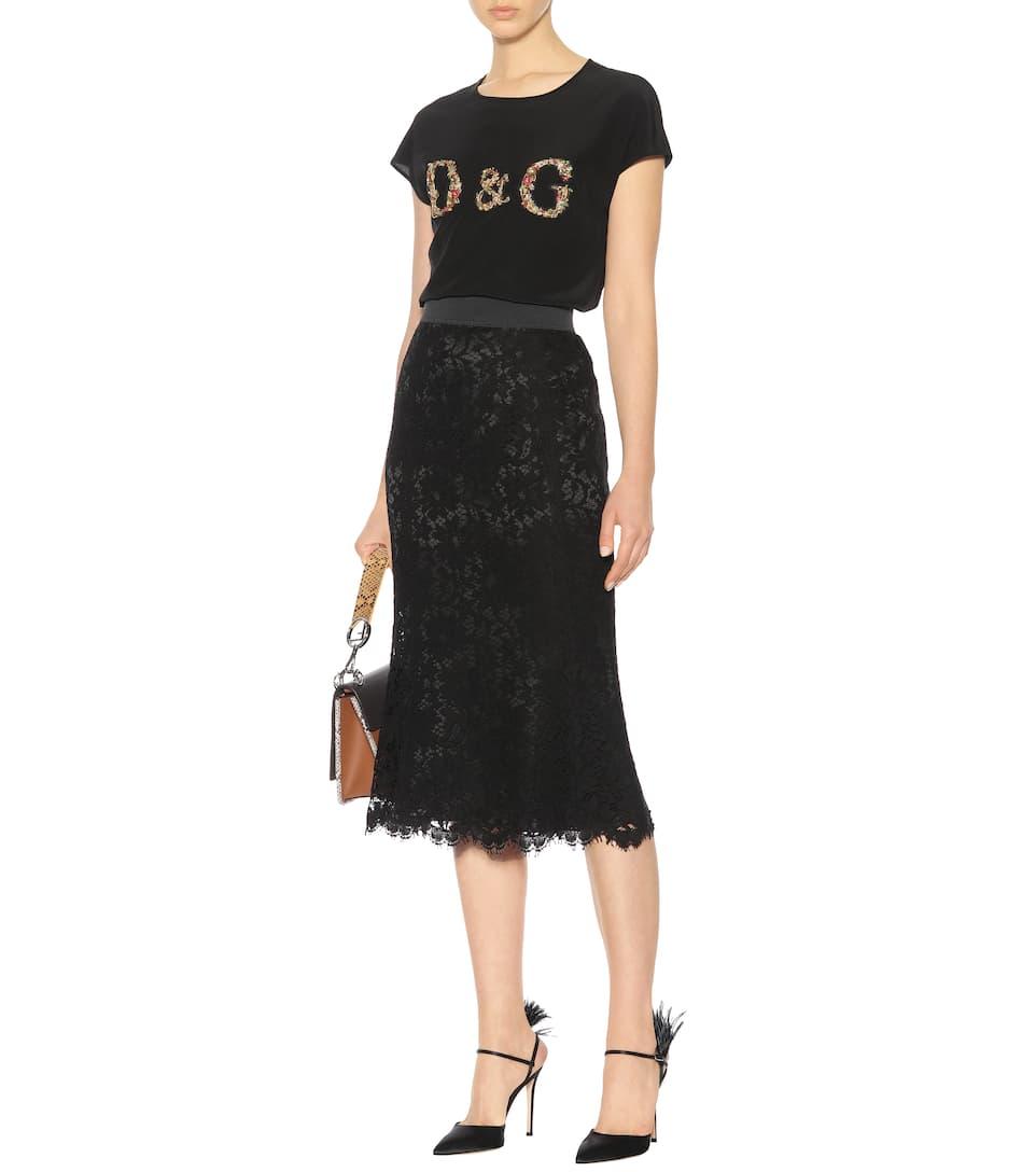 Dolce &; Gabbana Jupe Midi En Dentelle