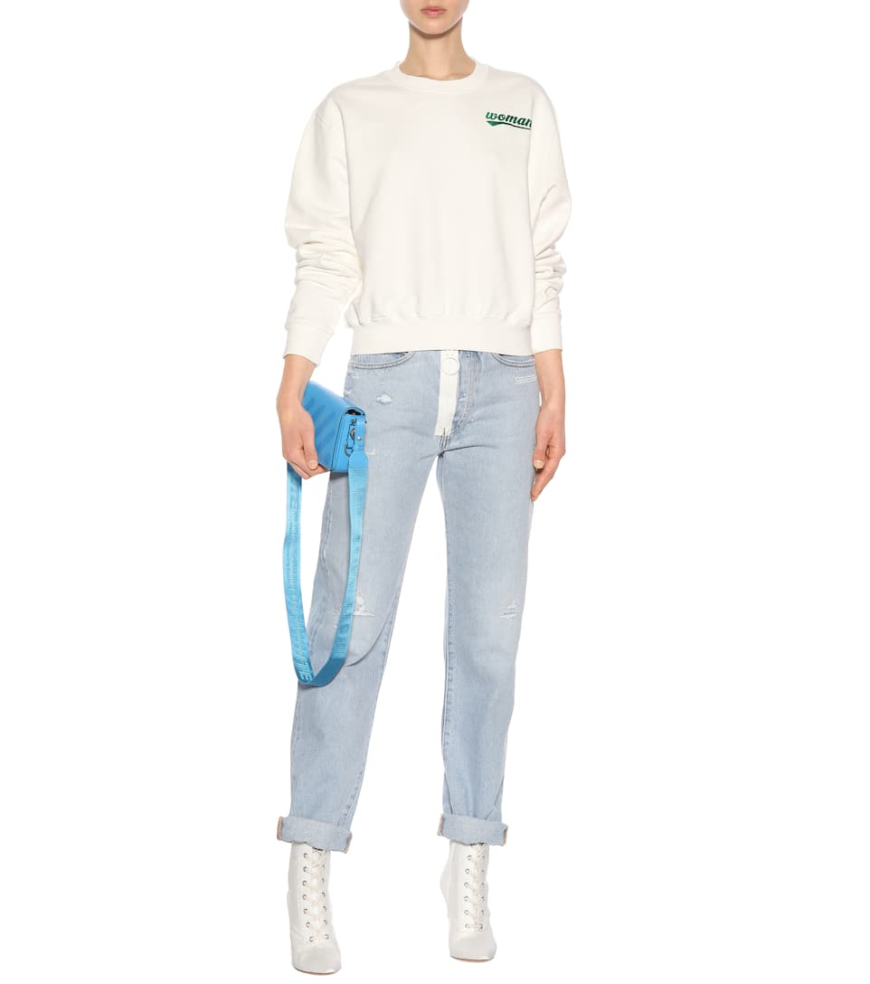 Off-white Printed Sweater Made Of Cotton