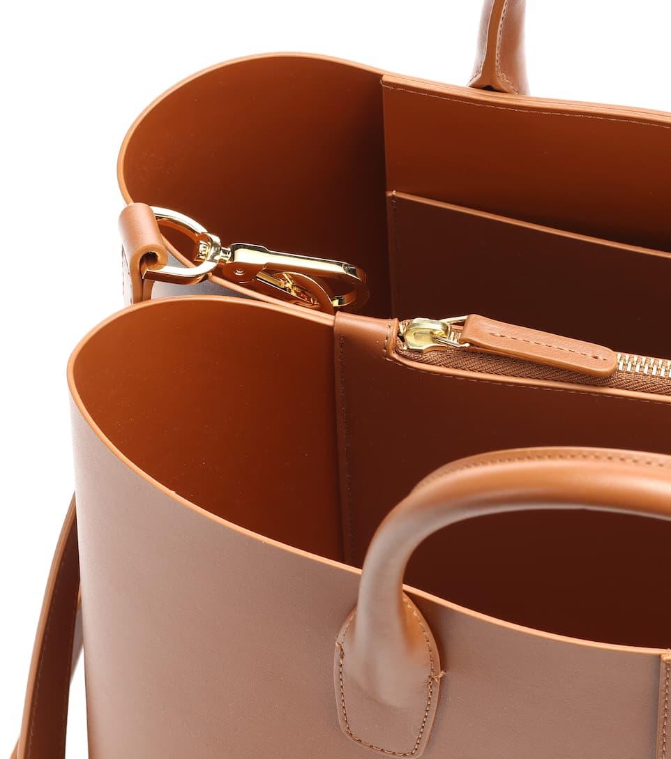 Bonne Prise Vente Large Folded Leather Tote Classique À Vendre La Vente En Ligne Très zFqmW0c