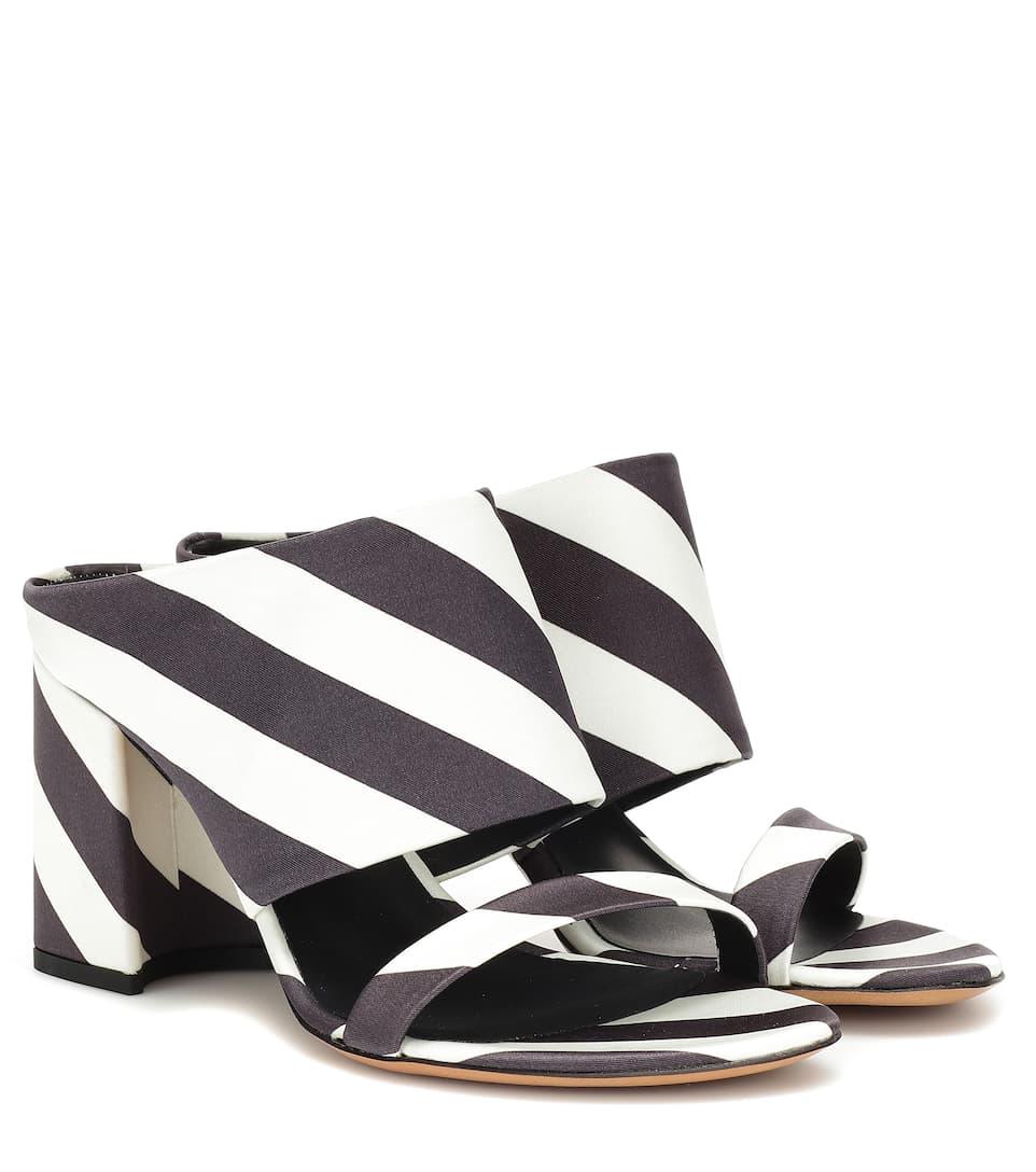 582895df5d245c Shoptagr | Striped Sandals by Dries Van Noten