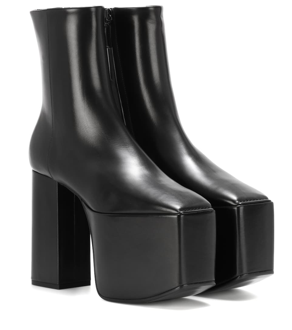 Leather Platform Ankle Boots by Balenciaga