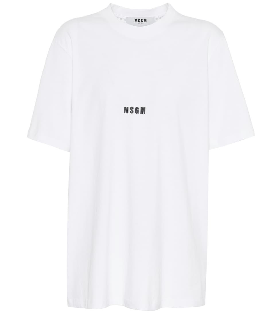 Breite Palette Von MSGM T-Shirt aus Baumwolle mit Print Authentisch Günstiger Preis Verkauf Schnelle Lieferung YcBvvlWrj