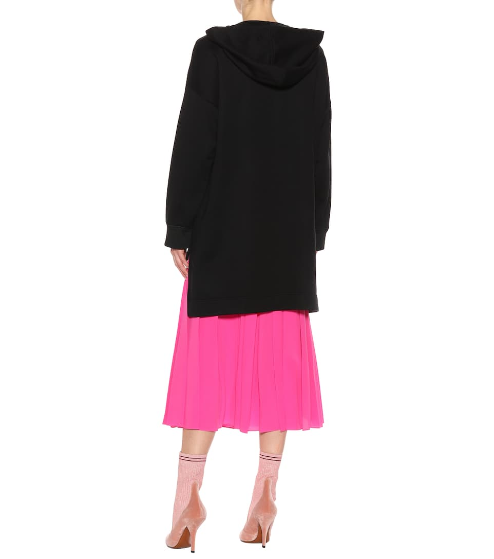 Hohe Qualität Zu Verkaufen Verkauf Erhalten Authentisch Fendi Hoodie-Kleid aus Baumwolle mit Verzierung Für Billig Günstig Online Bester Ort Zu Kaufen 3RFJ8