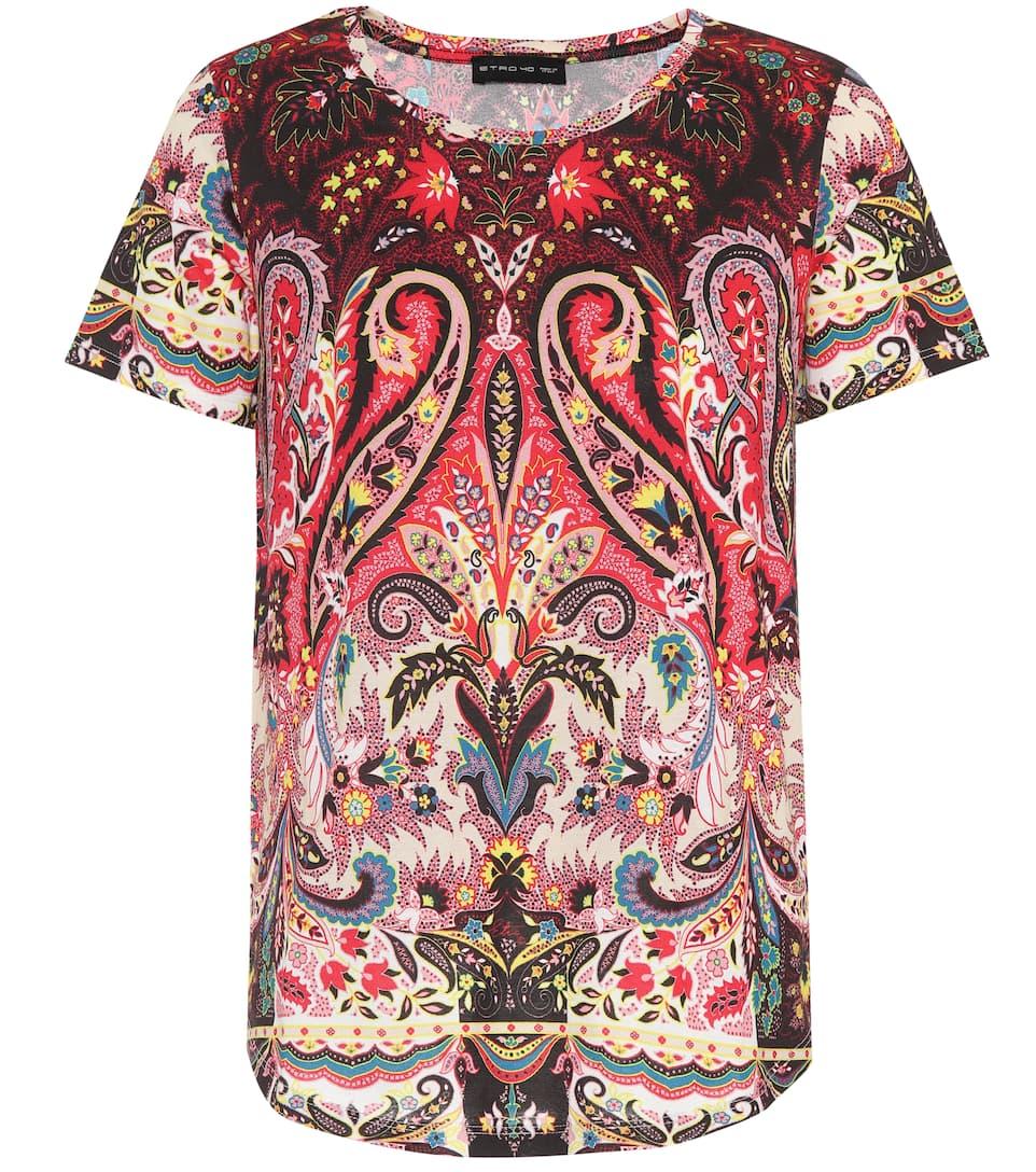Printed cotton T-shirt Etro Cheap Sale Release Dates R92HrZ