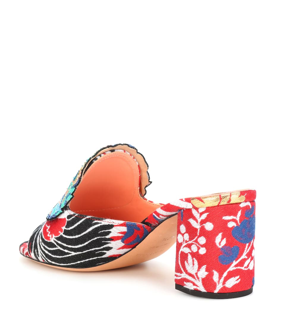 cheap free shipping Rochas Beaded jacquard sandals cheap sale 2014 newest free shipping footaction HfU4jL